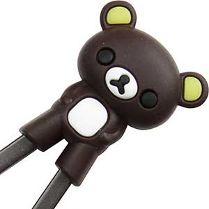 Bear Fun Childrens Helper Chopsticks Dark Brown