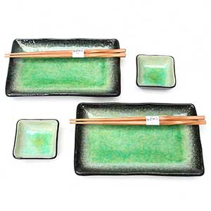 Green Crackled Glaze Japanese Dinnerware
