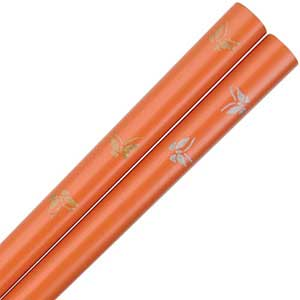 Butterflies Orange Japanese Chopsticks