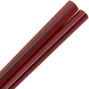 Deep Red Chopsticks with Black Striping