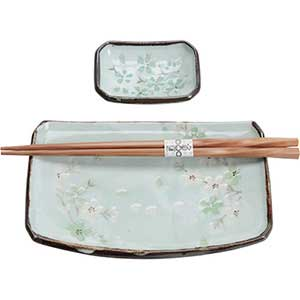 Dogwood Blossoms Sushi Single Serving Set