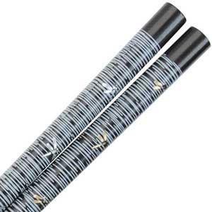 Dragonflies of Gold and Silver on Black Japanese Style Chopsticks