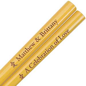 Honey Gold Engraved Personalized Chopsticks