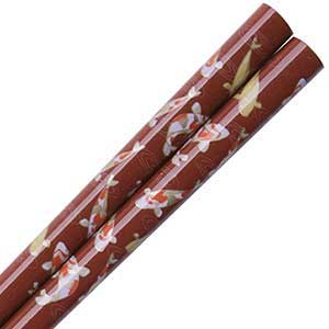 Koi Pond Japanese Chopsticks Rust