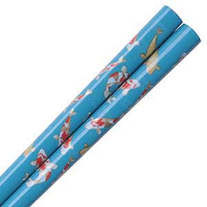 Koi Pond Japanese Chopsticks Turquoise