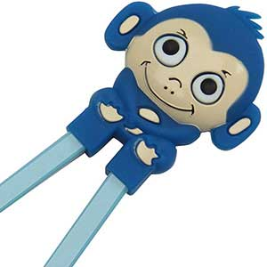 Monkey Fun Childrens Helper Chopsticks Blue