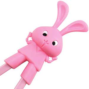 Rabbit Fun Childrens Helper Chopsticks Pink