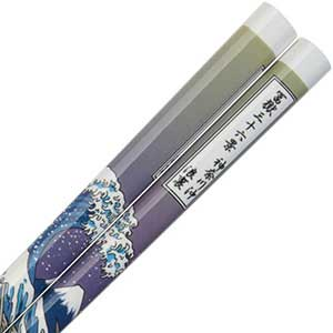 White Chopsticks with Hokusais The Great Wave Mount Fuji