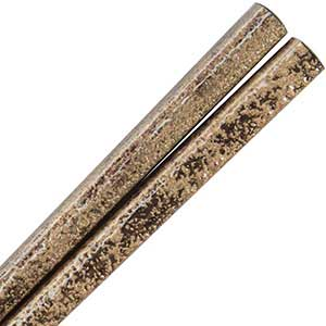 Wood Chopsticks with Autumn Gold Stippled Finish