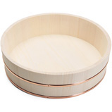 Wooden Hangiri Rice Tub, 12 Inch, Made in China