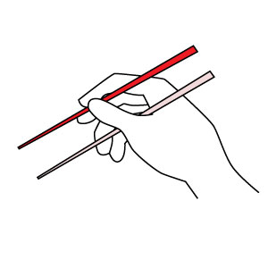 How To Use Chopsticks Step 2