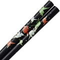 Black Chopsticks with Origami Cranes Design