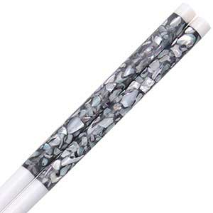 Bone Chopsticks with Scattered Mother of Pearl