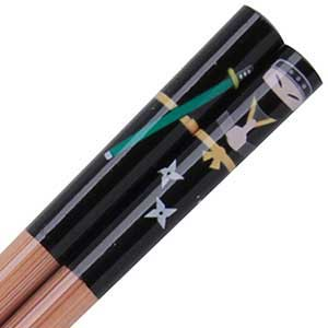 Boy Ninja Black Japanese Childrens Chopsticks