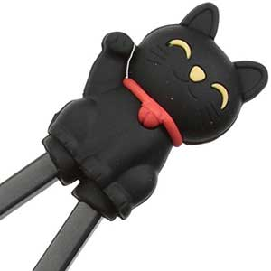 Cat Fun Childrens Helper Chopsticks Black