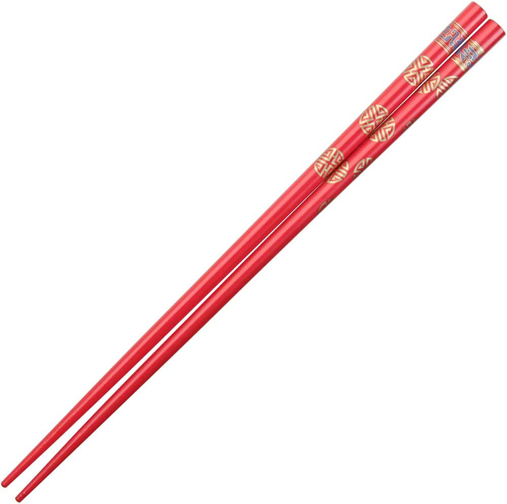 Chinese Gold Symbols on Red Chopsticks