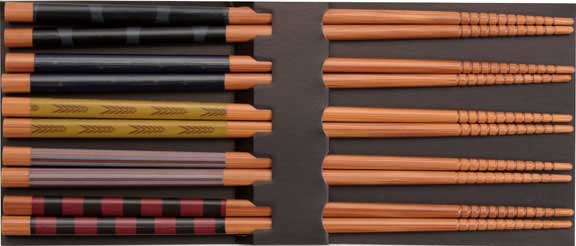 Colorful Bamboo Japanese Chopsticks Set