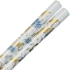 Cranes of Gold and Silver on White Japanese Style Chopsticks