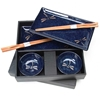 Deep Blue Dragonflies Japanese Dinnerware Set - DF79N