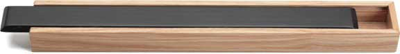 Deluxe Wood Japanese Style Chopsticks Box with Black Lid