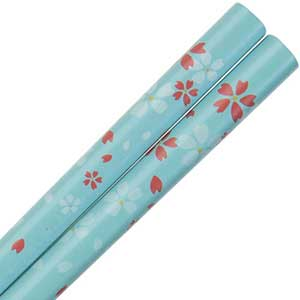 Dogwood Blossoms on Light Blue Japanese Style Chopsticks Dogwood Blossoms on light blue Chopsticks, blue Chopsticks, Japanese style chopsticks, wedding chopsticks, light blue chopsticks