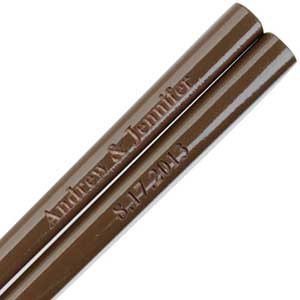 Brown Engraved Personalized Chopsticks