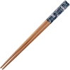 Fans Over Blue on Bamboo Japanese Chopsticks