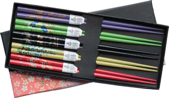 Floral Colors Chopsticks Set
