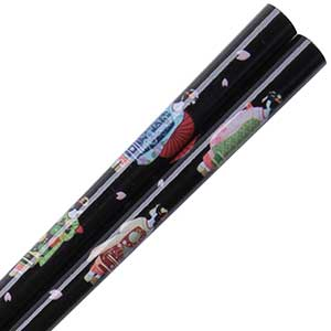 Geishas Black Japanese Chopsticks geisha chopsticks, black chopsticks, japanese chopsticks