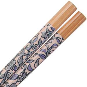 Indigo Blue Patterned Chopsticks Assorted Designs Indigo Chopsticks, blue chopsticks, bamboo chopsticks, traditional fabric pattern chopsticks, Japanese chopsticks, Japanese style chopstick