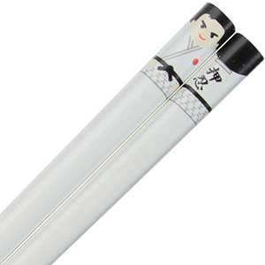 Judo Black Belt Whimsical Character on White Japanese Chopsticks white chopsticks, judo chopsticks, black belt chopsticks, fun chopsticks, White Judo Black Belt Chopsticks, Japanese chopsticks, whimsical chopsticks, Character chopsticks