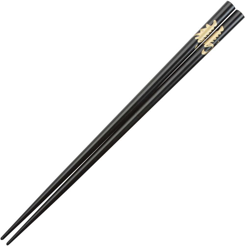 Kotobuki Longevity Kanji on Black Japanese Style Chopsticks