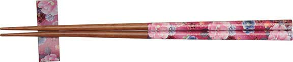 Lavender Floral Chopsticks with Rest