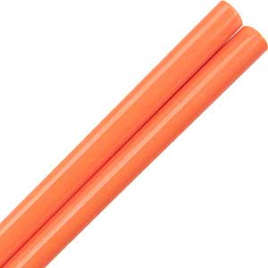 Melamine Plastic Dishwasher Safe Chinese Chopsticks in Orange