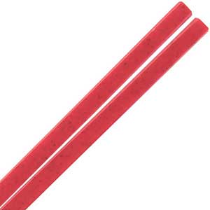 Melamine Plastic Dishwasher Safe Chinese Chopsticks in Red