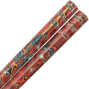 Multi-Color Japanese Chopsticks with Inlaid Shell