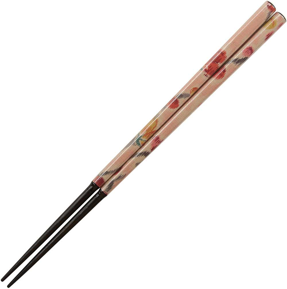 Nishijin Chopsticks Peach on Black