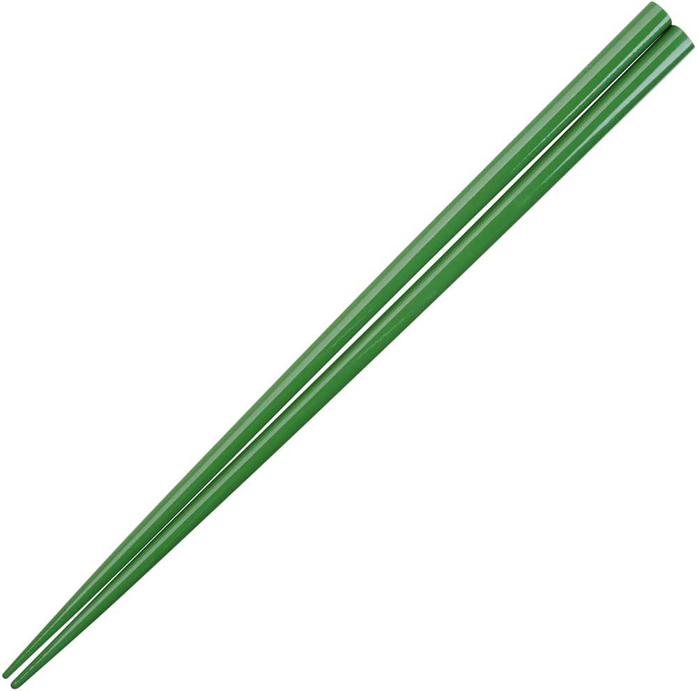 Green Olive Glossy Painted Japanese Style Chopsticks