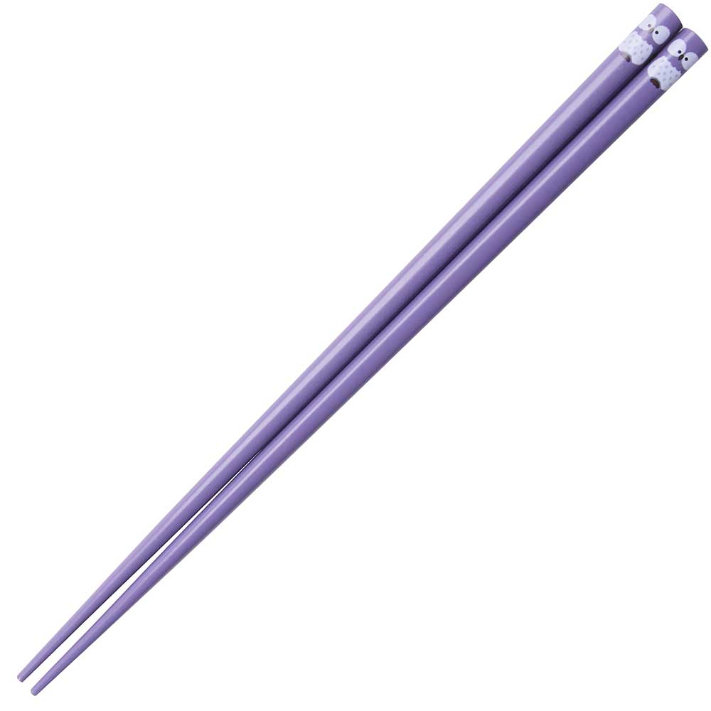 Owl Japanese Chopsticks Purple