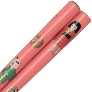 Pink Childrens Chopstick with a Girl and Panda pink chopsticks, childrens chopsticks, small chopsticks, panda chopsticks, yellow childrens chopsticks, hair sticks, hairsticks, small chopsticks