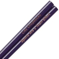 Purple Engraved Personalized Chopsticks