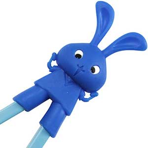 Rabbit Fun Childrens Helper Chopsticks Blue