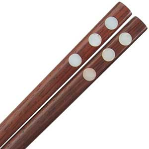 Rosewood with Mother of Pearl Dots Thai Style Chopsticks Rosewood with Mother of Pearl Dots chopsticks, Rosewood with Mother of Pearl chopsticks, thai style chopsticks, thai style chopstick, chopsticks from thailand, rosewood chopsticks