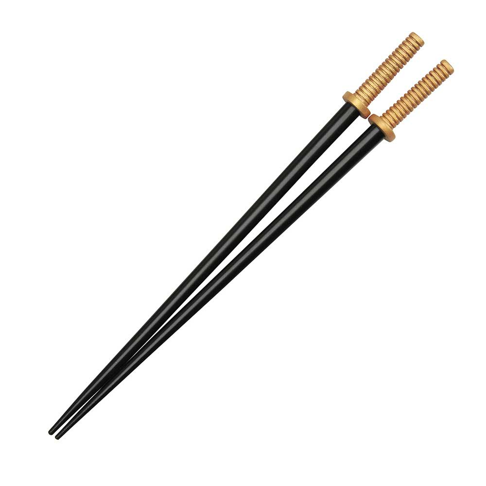 Samurai Sword Chopsticks with Gold Hilt