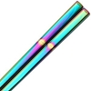 Square Stainless Steel Chopsticks Rainbow Color