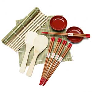 Sushi Making Kit With Soy Sauce Dishes