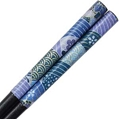 Washi Blue Sakura Iris Stream Chopsticks