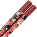 Washi Paper Wrapped Chopsticks Deep Red with Antique Plum