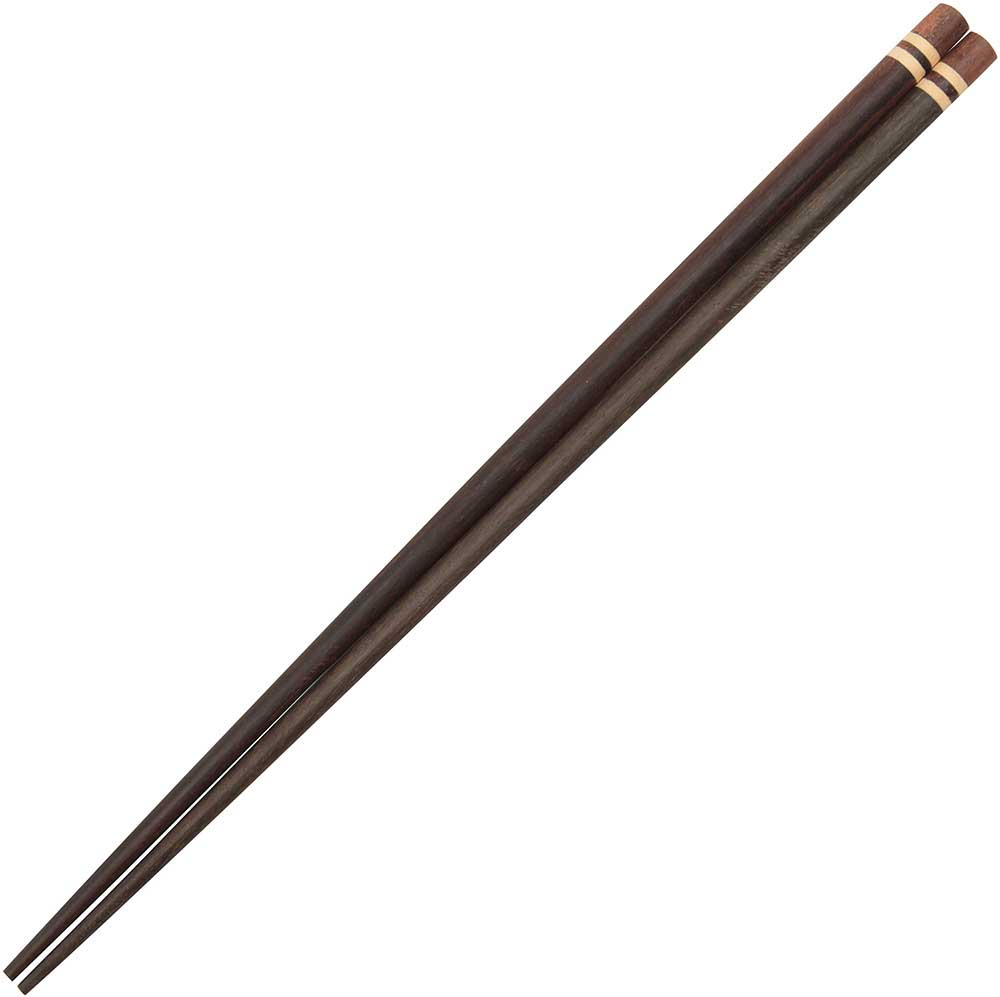 Wooden Thai Chopsticks with Three Color Bands
