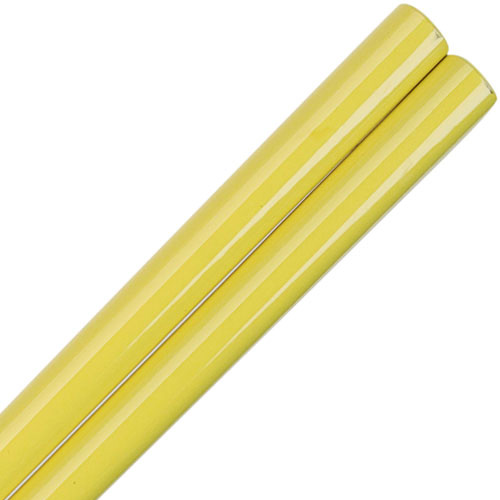 Yellow Lemon Glossy Painted Japanese Style Chopsticks